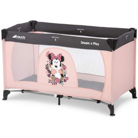 NEW HAUCK DISNEY MINNIE MOUSE SWEETHEART PINK DREAM N PLAY TRAVEL COT PLAYPEN